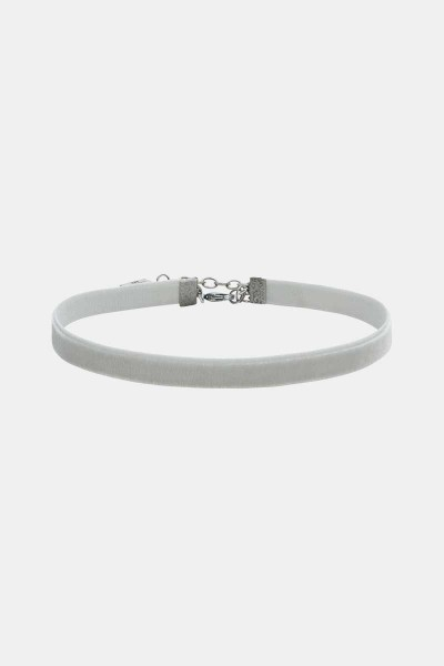 Kropfband Samt Light Grey