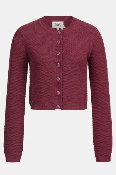 Strickjacke Minzi Bordeaux
