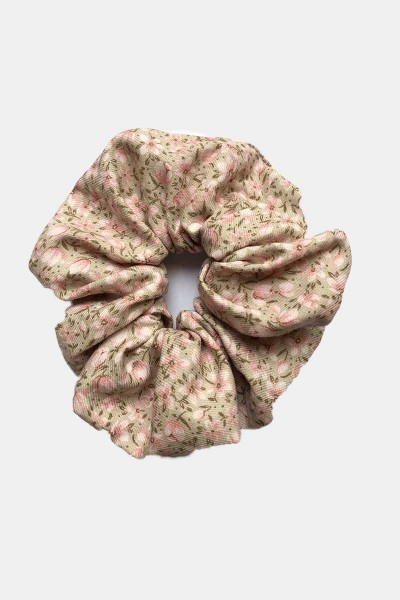 Scrunchie Pink Flowers
