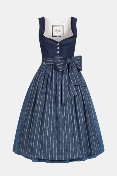 Dirndl Josephine Oxford Blue