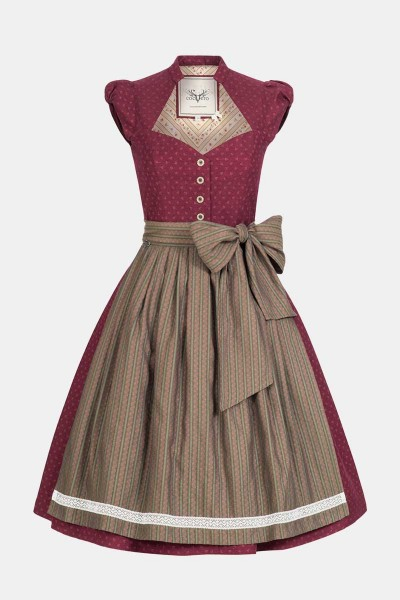Dirndl Blum Red Wood