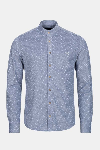 Trachtenhemd Finley Floral Blue