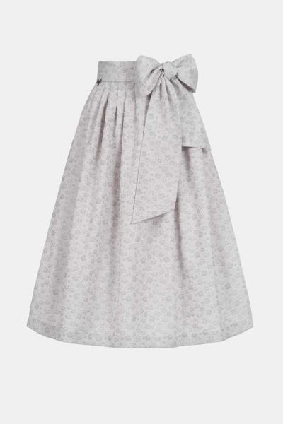 Jacquard-Schürze Floral Grey