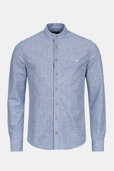 Trachtenhemd Finley Houndstooth Blue