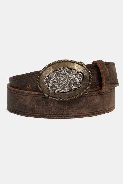 Trachtengürtel mit rundem Löwen Emblem
