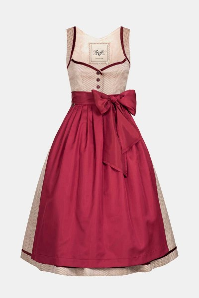 Dirndl Josephine Strawberry Red