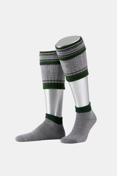 Aufwendiges Trachten Loferl Grau/Tannengrün