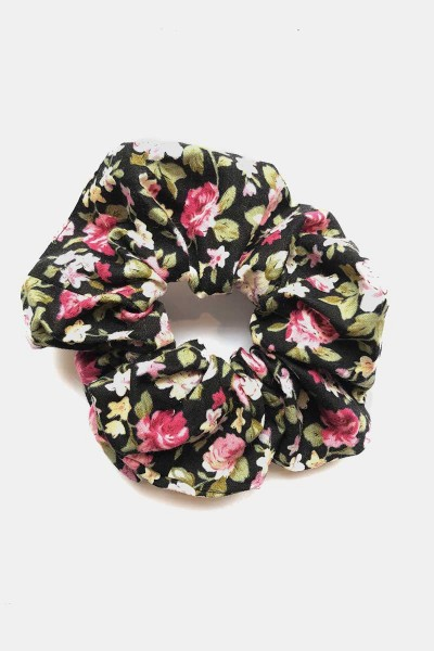 Scrunchie Rosie Black