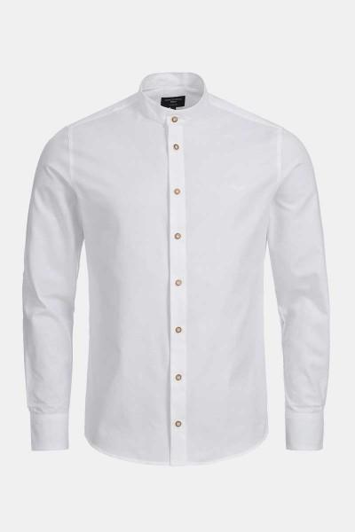 Trachtenhemd Finley Classic White Heringbone