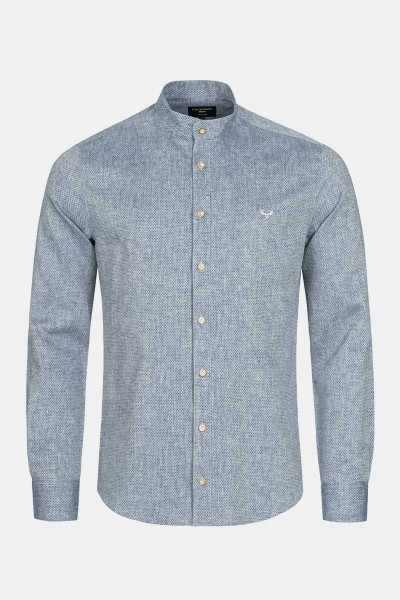 Trachtenhemd Finley Strong Blue