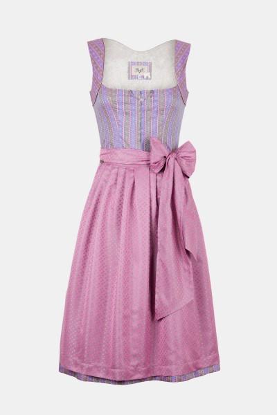 cocovero designer dirndl doro mit süßem charini rosa farbe